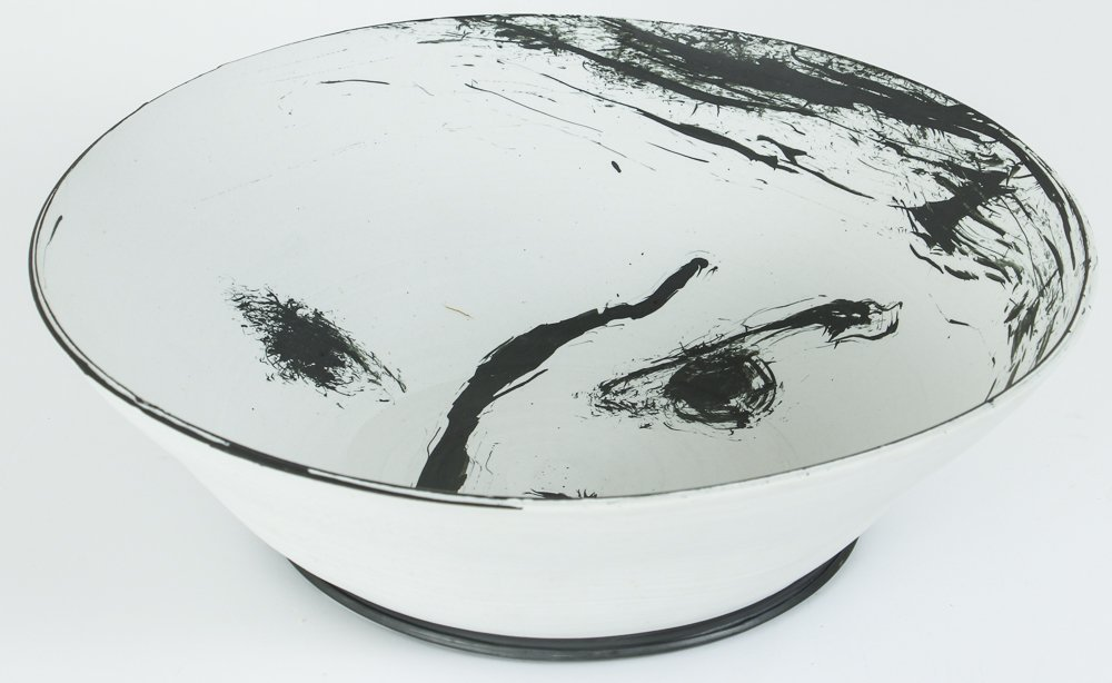 Ed Eberle large porcelain Moon Bowl - 2