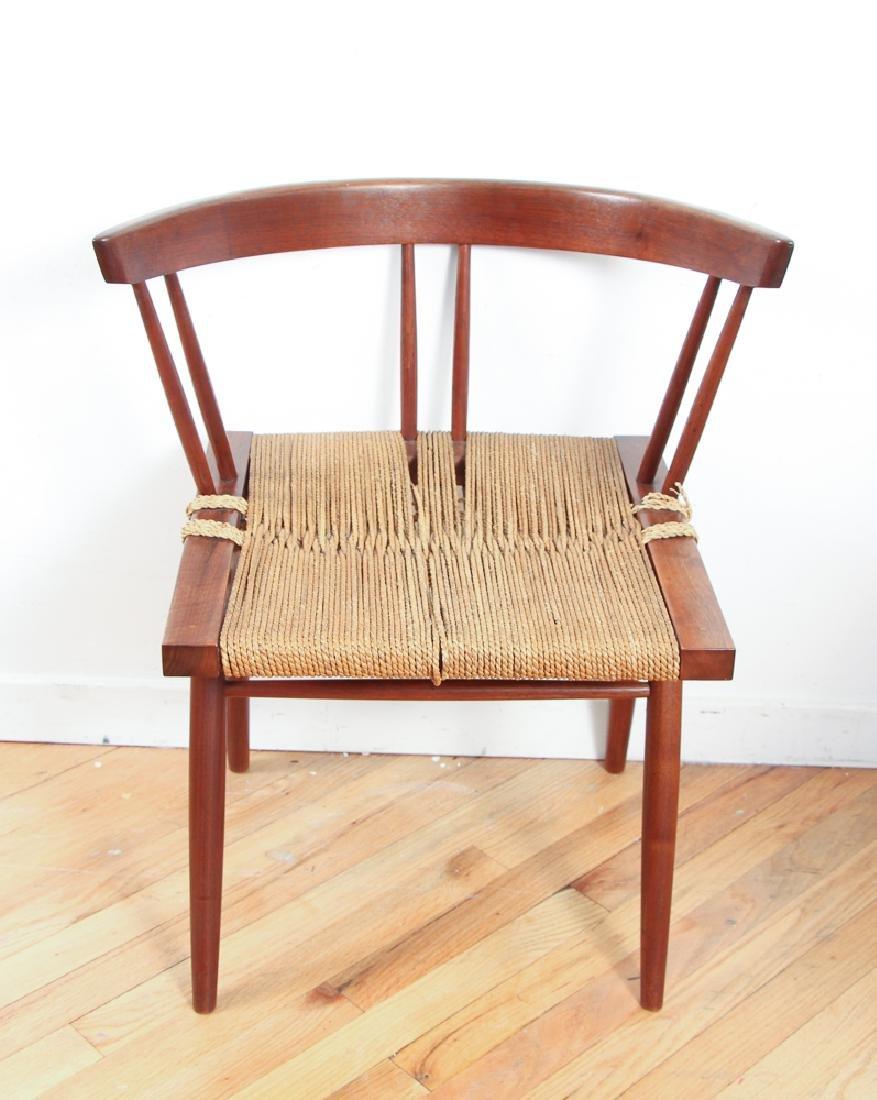 GEORGE NAKASHIMA Pair of walnut Grass-Seat chairs - 2