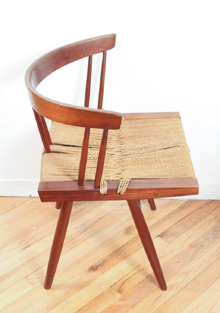 GEORGE NAKASHIMA Pair of walnut Grass-Seat chairs - 3