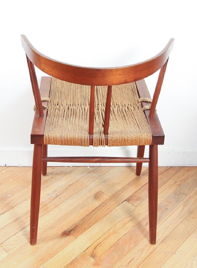 GEORGE NAKASHIMA Pair of walnut Grass-Seat chairs - 4