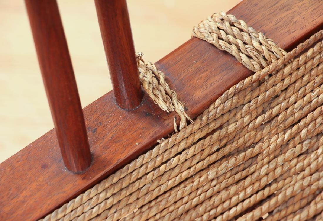 GEORGE NAKASHIMA Pair of walnut Grass-Seat chairs - 5