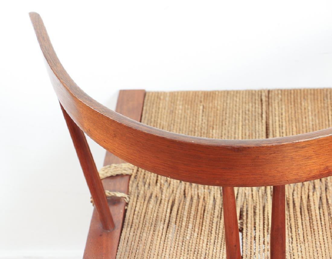 GEORGE NAKASHIMA Pair of walnut Grass-Seat chairs - 6