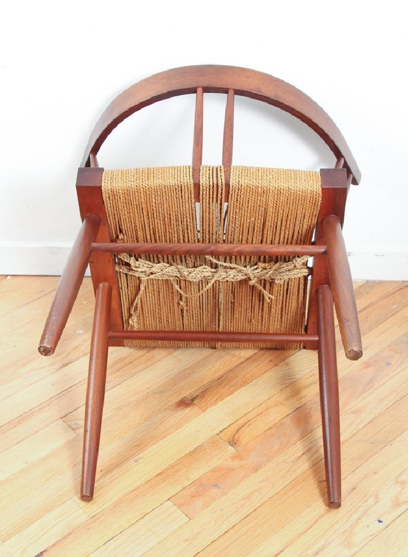 GEORGE NAKASHIMA Pair of walnut Grass-Seat chairs - 7
