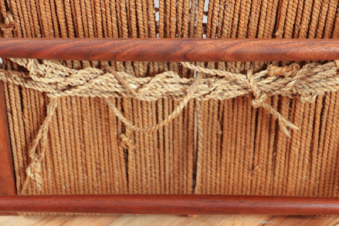 GEORGE NAKASHIMA Pair of walnut Grass-Seat chairs - 8