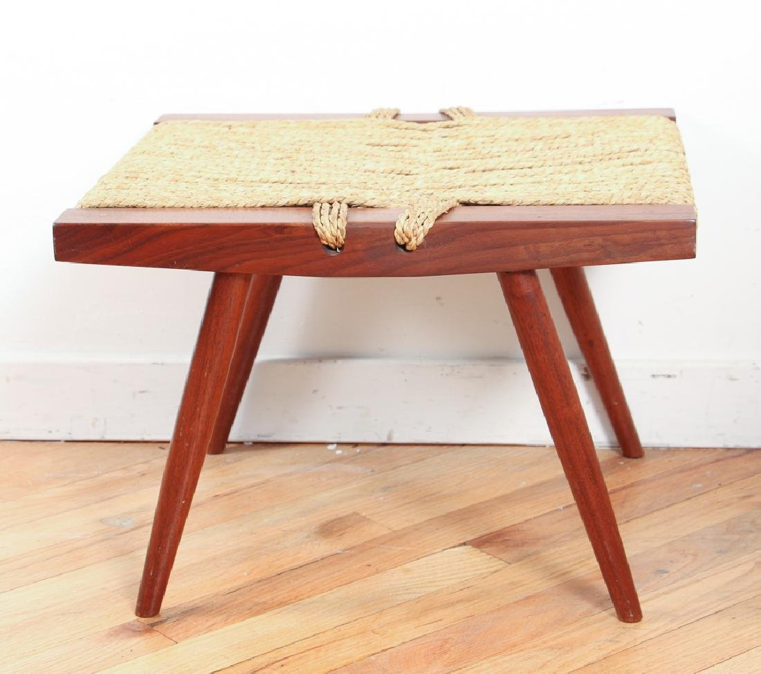 George Nakashima Stool with Grass Seat