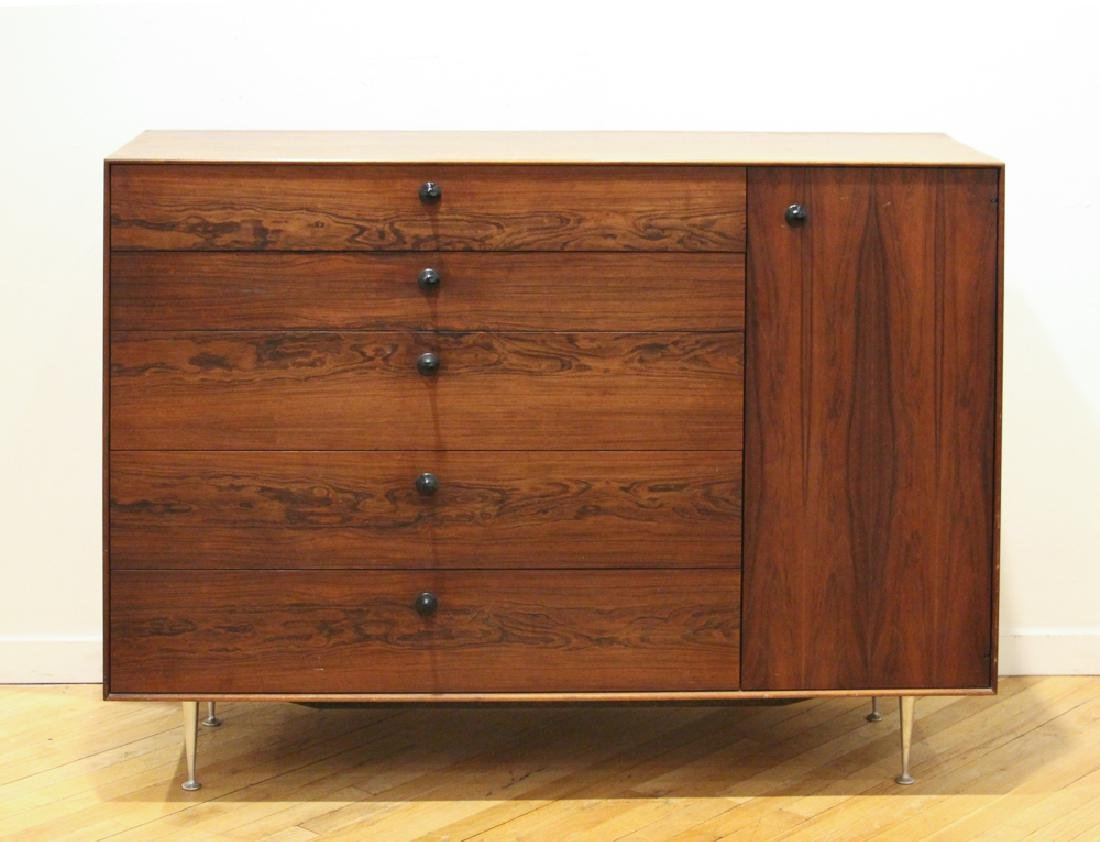 """George Nelson Rosewood """"Thin Edge"""" 5245 Cabinet"""