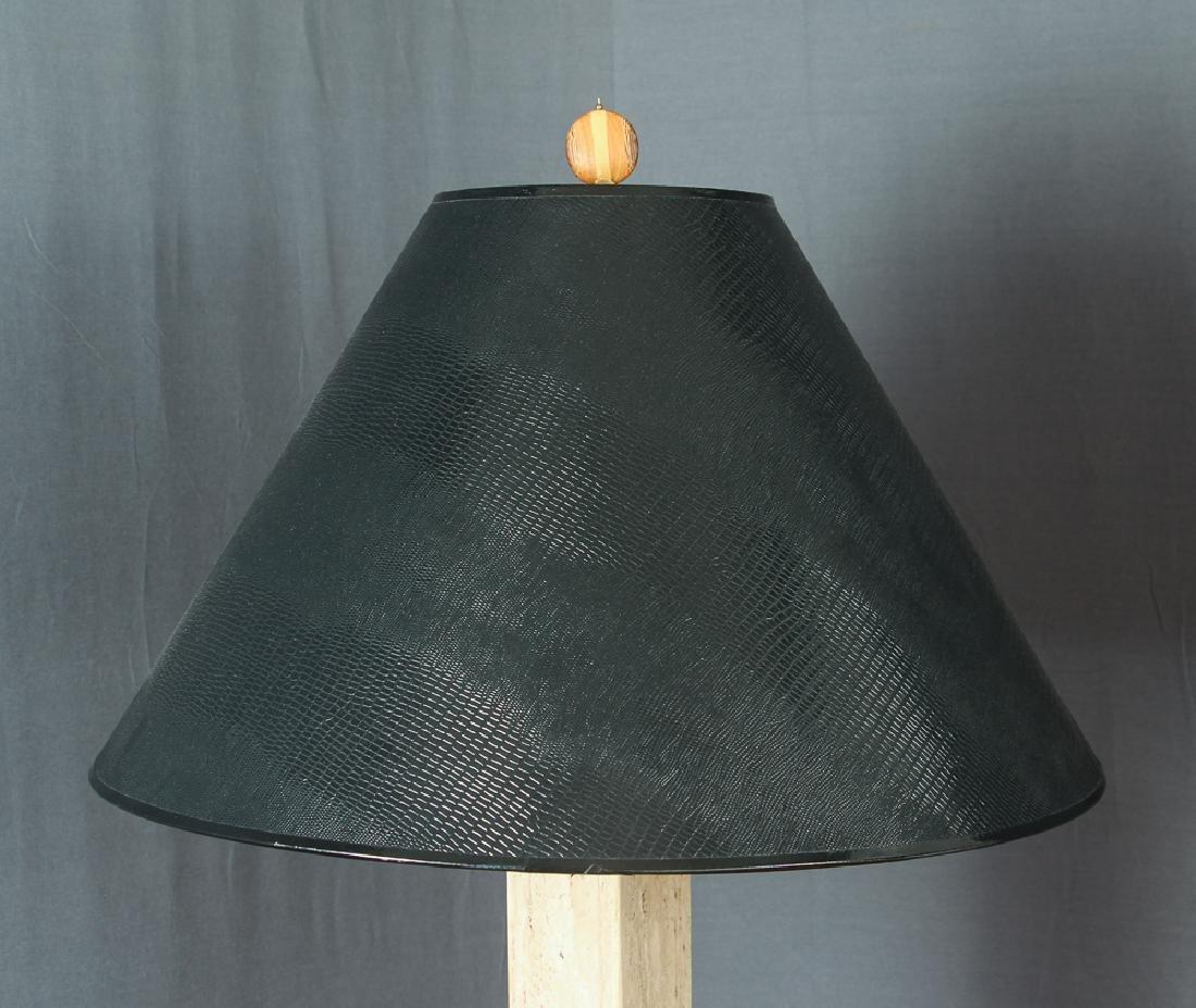 Pair of Herb Seigle Travertine Floor Lamps - 4