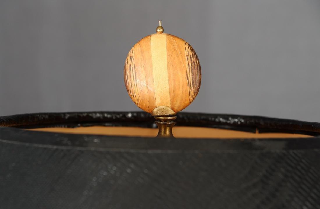 Pair of Herb Seigle Travertine Floor Lamps - 5