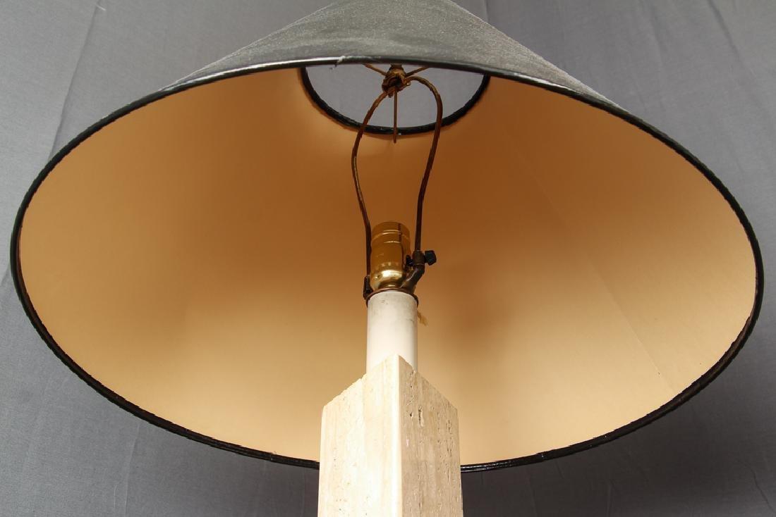 Pair of Herb Seigle Travertine Floor Lamps - 6