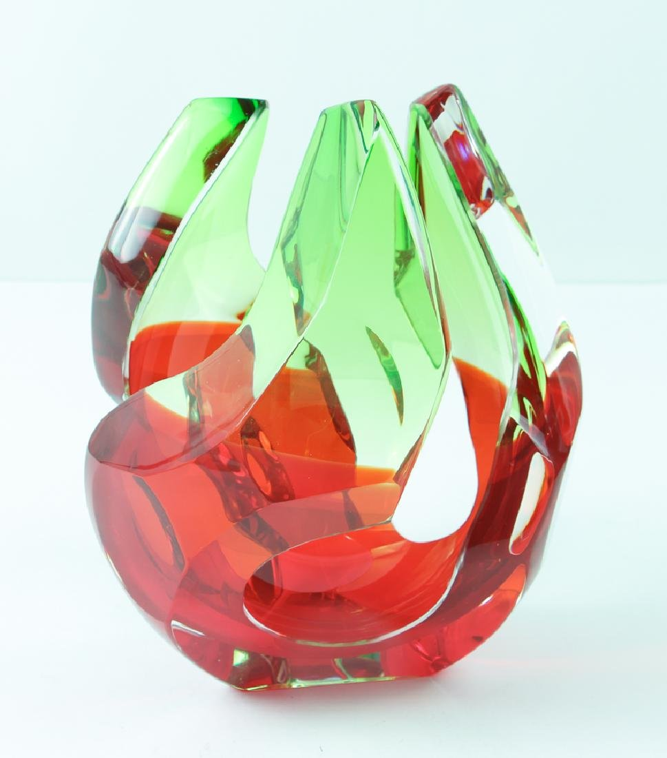 Richard Silver 2006 glass sculpture Flame