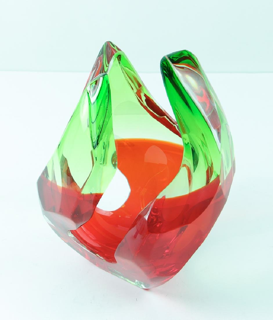 Richard Silver 2006 glass sculpture Flame - 2