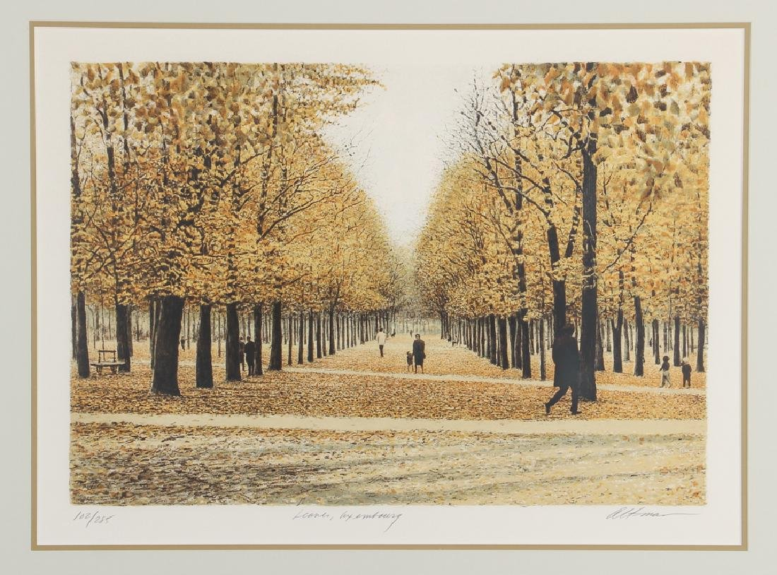 Harold Altman Leaves of Luxembourg Lithograph