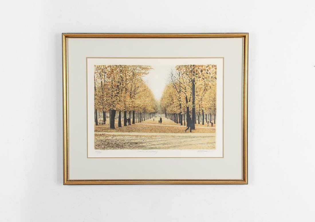 Harold Altman Leaves of Luxembourg Lithograph - 2
