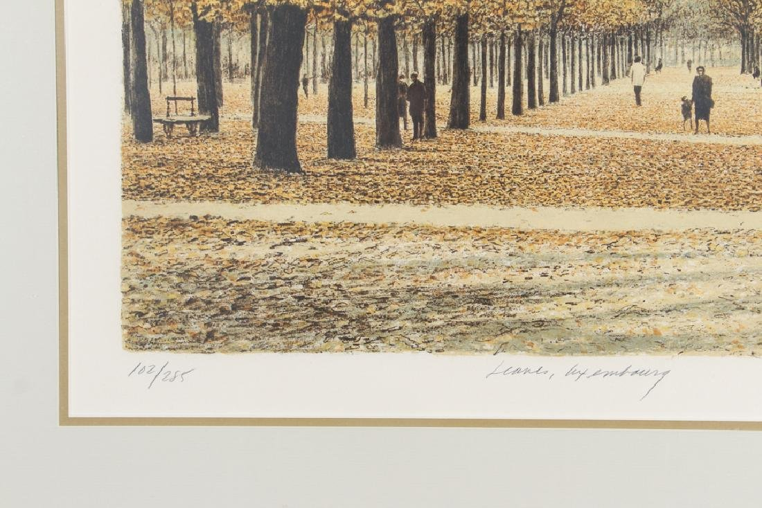 Harold Altman Leaves of Luxembourg Lithograph - 4