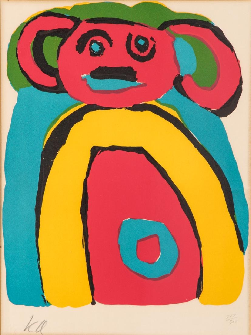 Karel Appel signed lithograph Bear