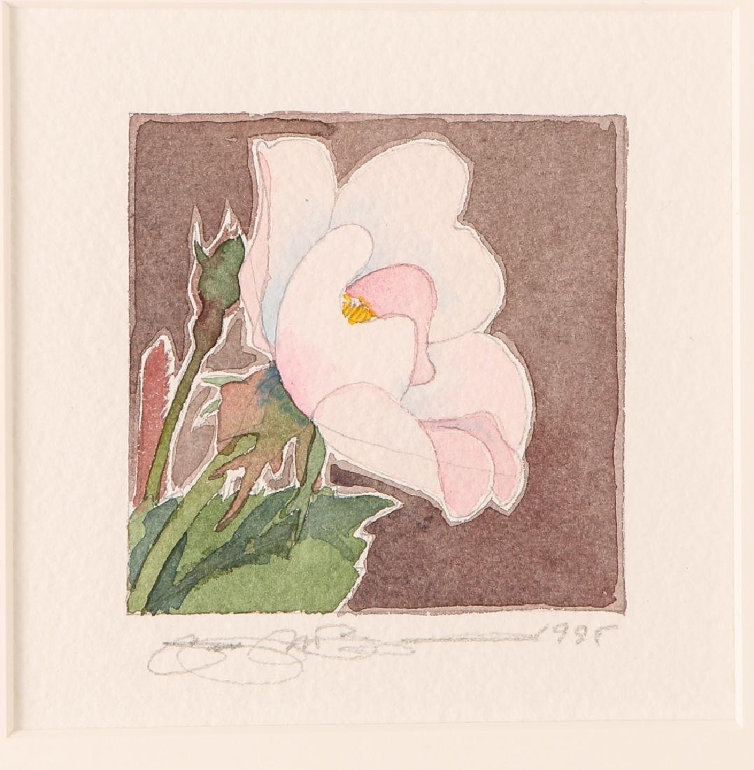 Gary Bukovnik watercolor; Wild Rose Study II