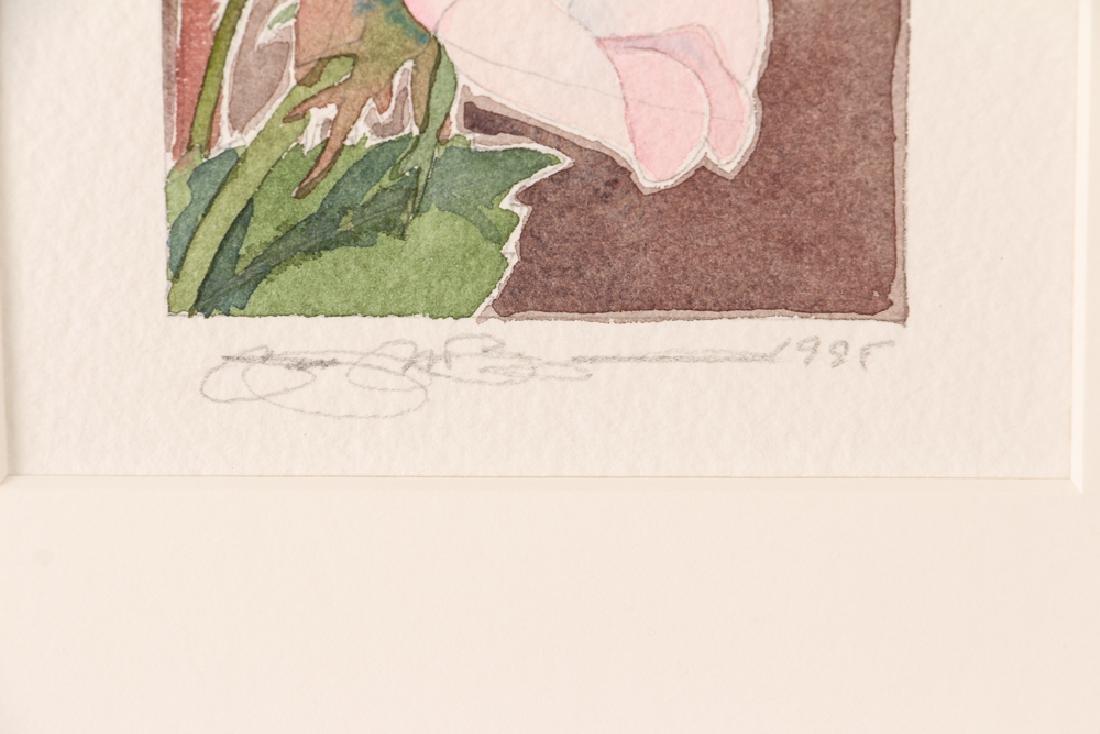 Gary Bukovnik watercolor; Wild Rose Study II - 3