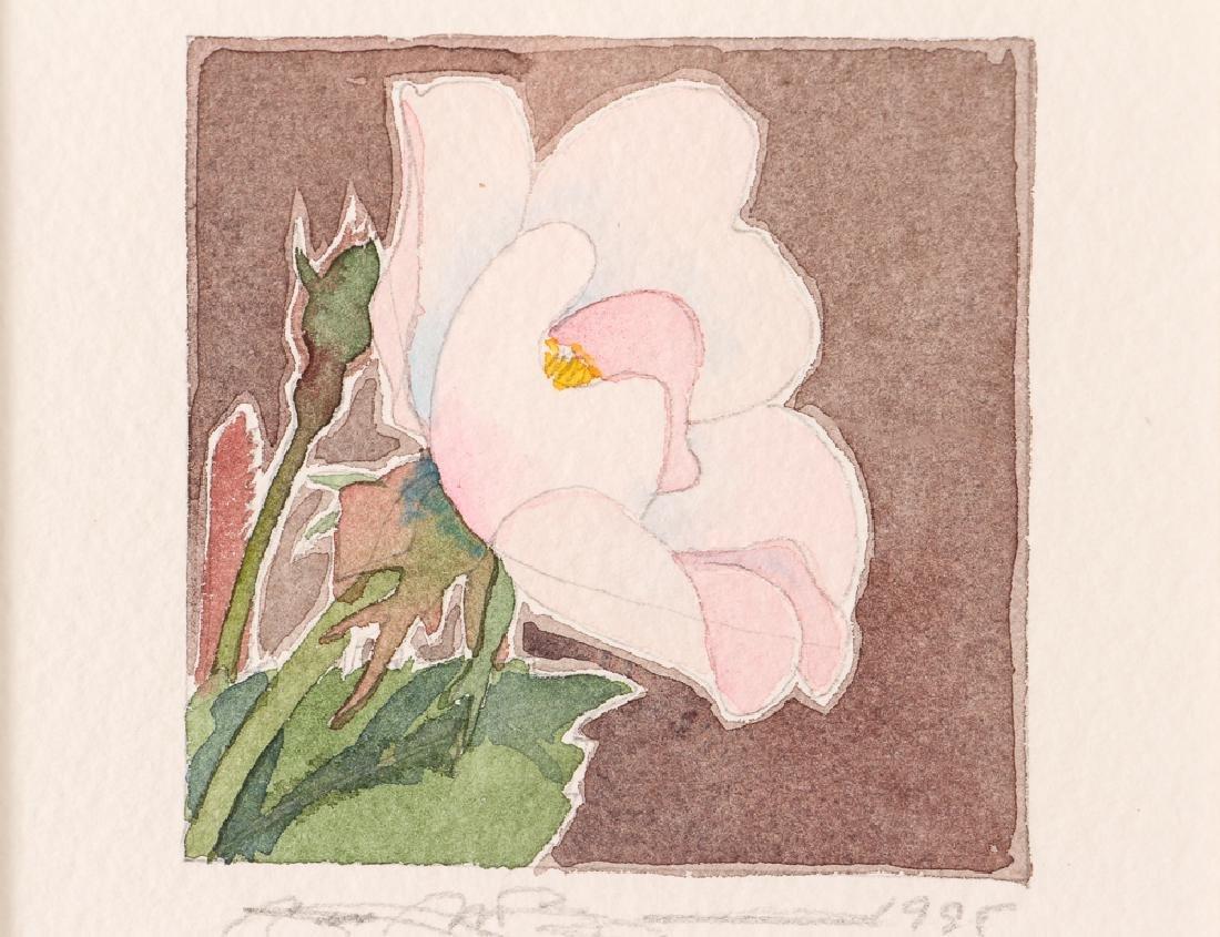 Gary Bukovnik watercolor; Wild Rose Study II - 4