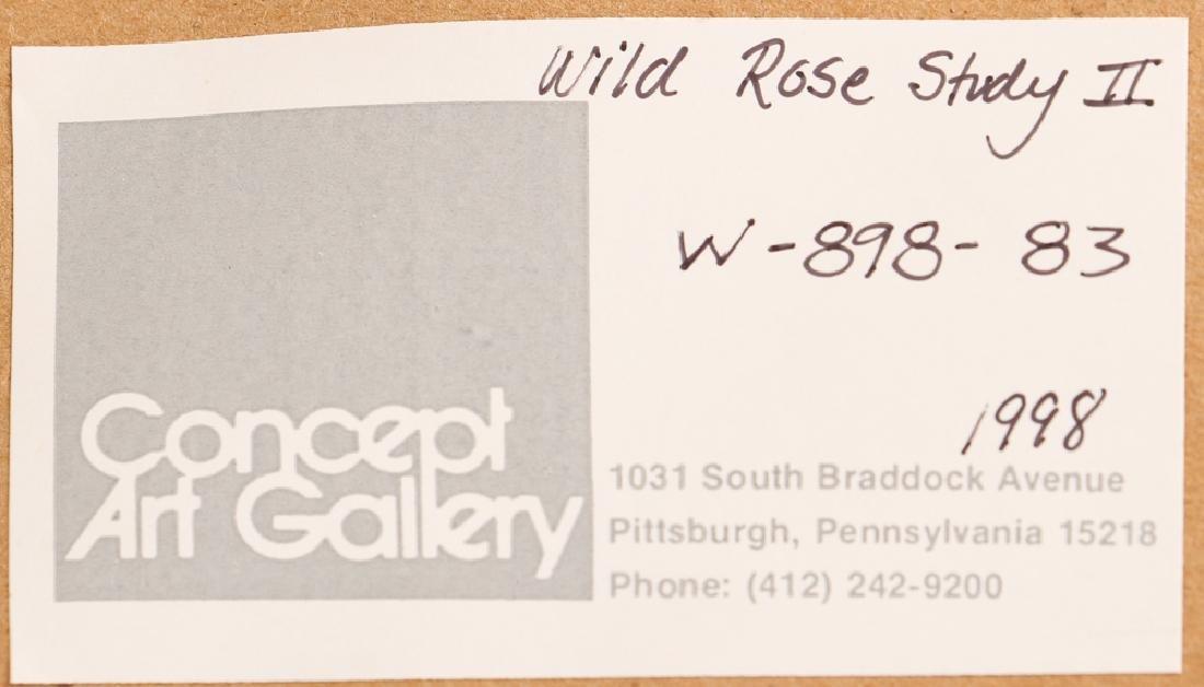 Gary Bukovnik watercolor; Wild Rose Study II - 5