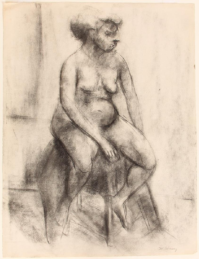 Marvin Cherney Female Nude Portrait Drawing
