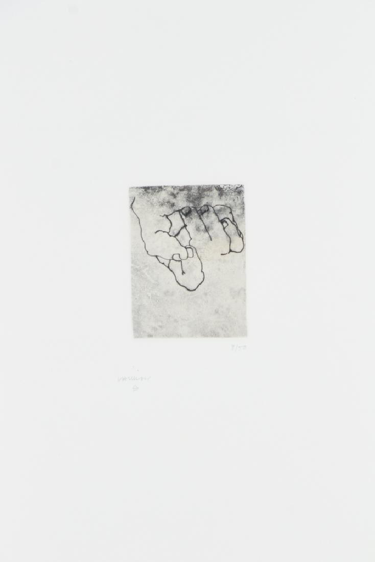 Eduardo Chillida 1984 original etching, Esku Xlll