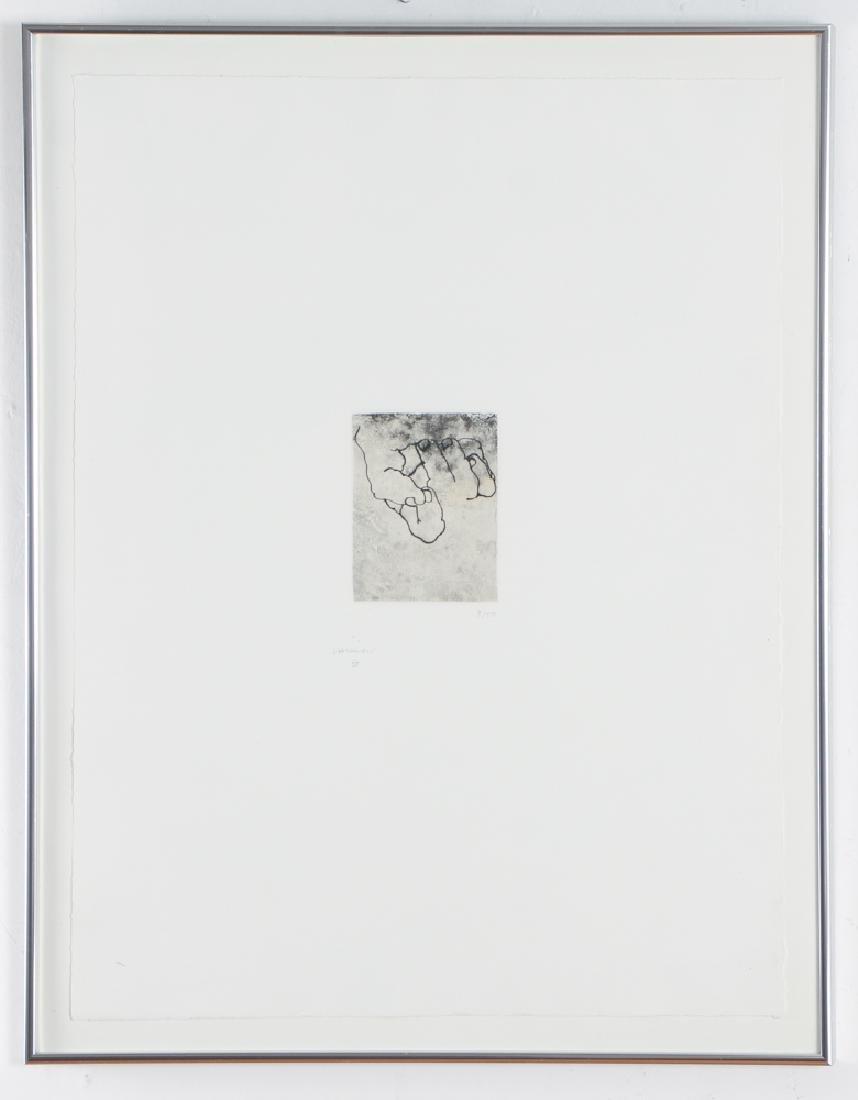 Eduardo Chillida 1984 original etching, Esku Xlll - 3