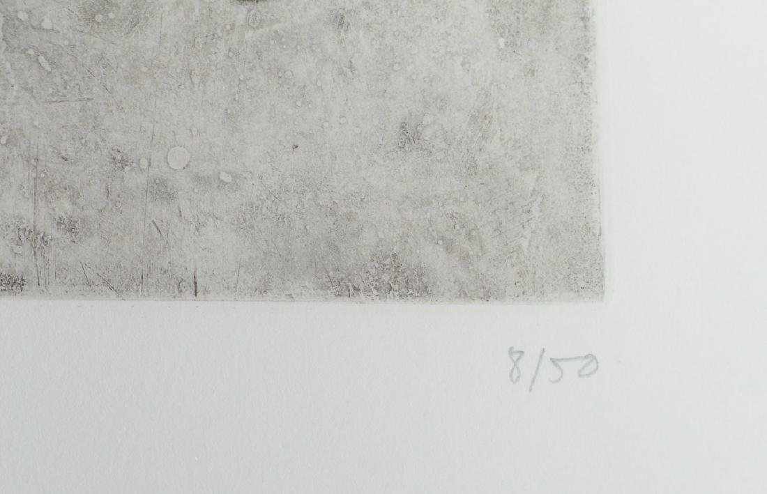 Eduardo Chillida 1984 original etching, Esku Xlll - 5