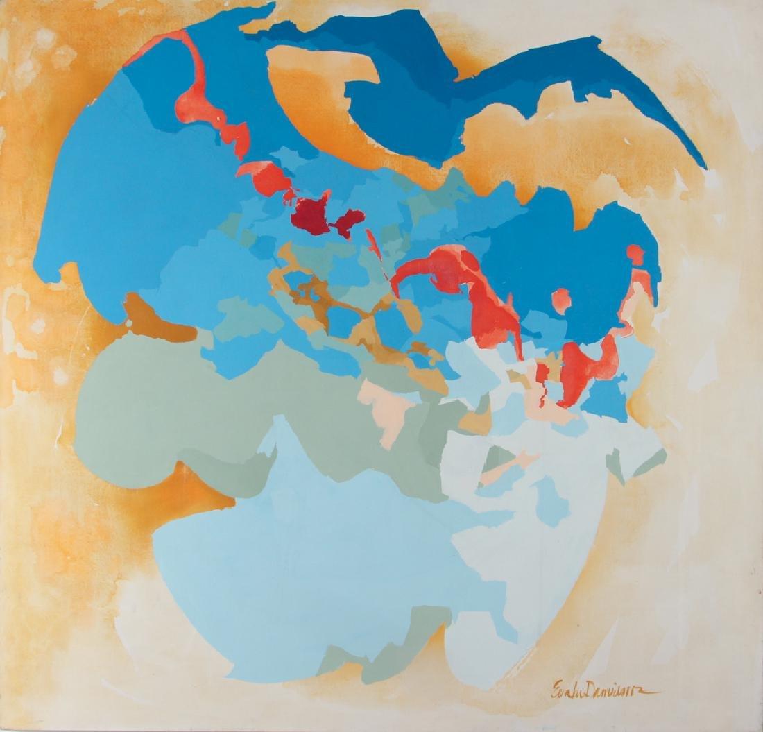 Eva Lou Damianos Untitled Abstract canvas