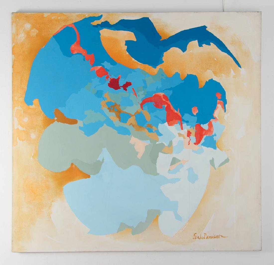 Eva Lou Damianos Untitled Abstract canvas - 2