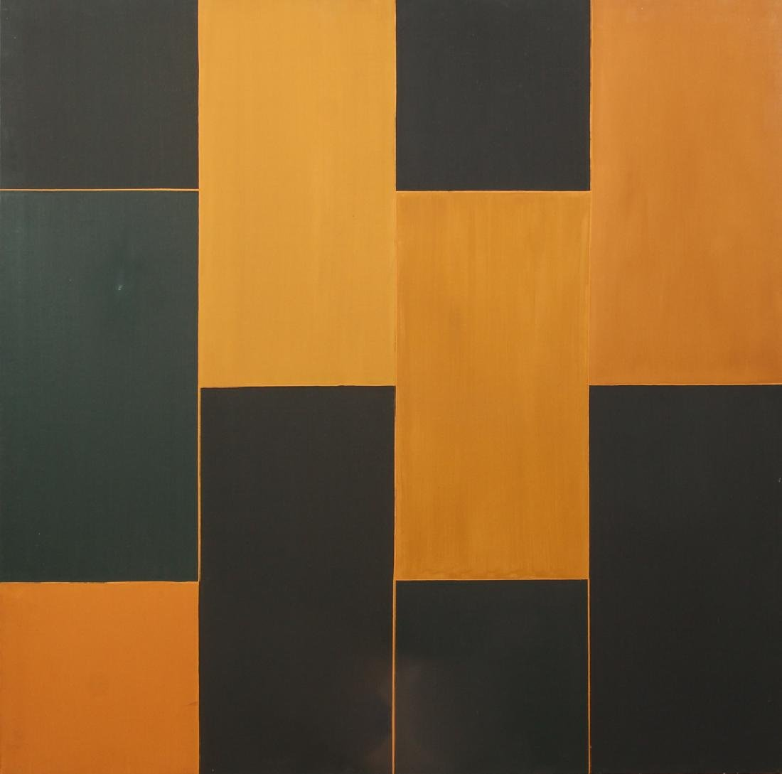 Jane Haskell 1992 ptg. Black and Ochre II