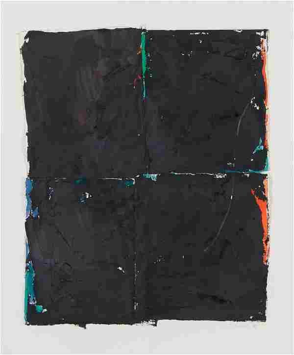 Jane Haskell oil on paper Black Window 1987