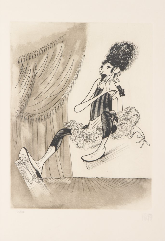 AL HIRSCHFELD Barbra Streisand 1975 etching