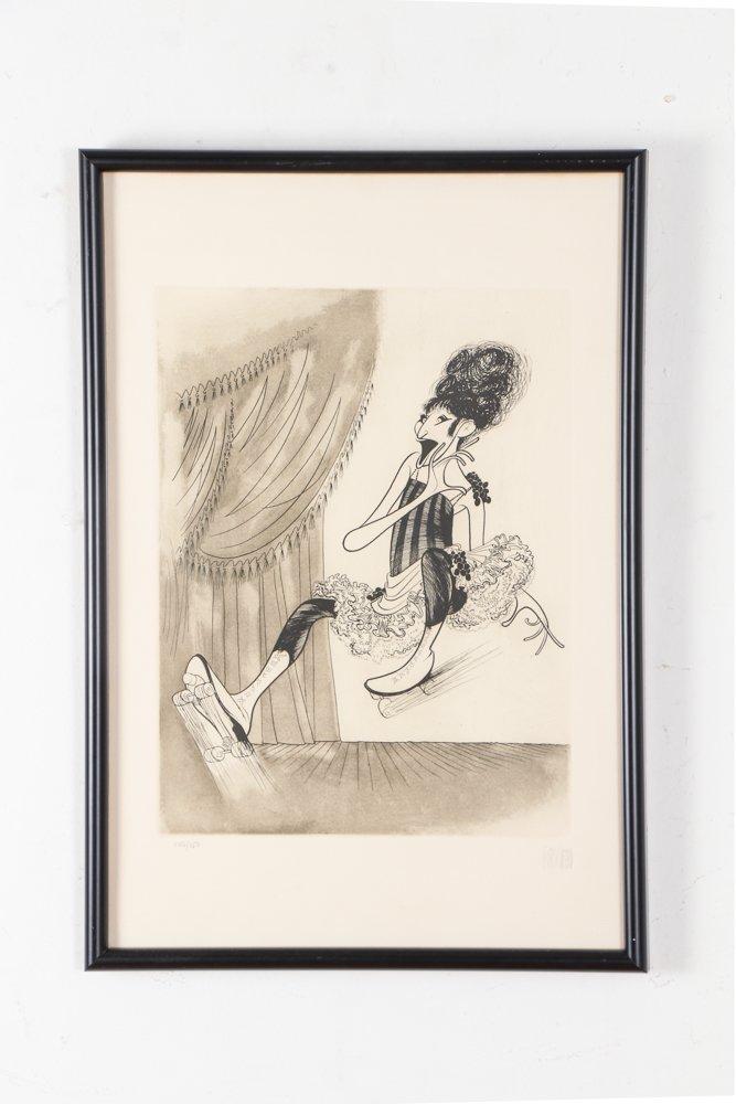 AL HIRSCHFELD Barbra Streisand 1975 etching - 2