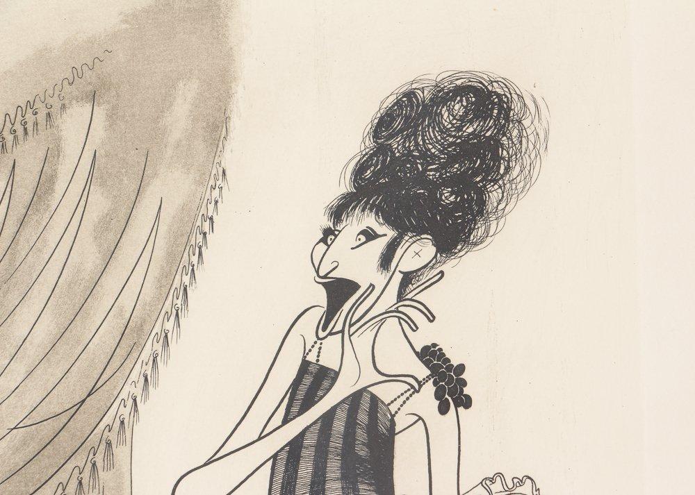 AL HIRSCHFELD Barbra Streisand 1975 etching - 5