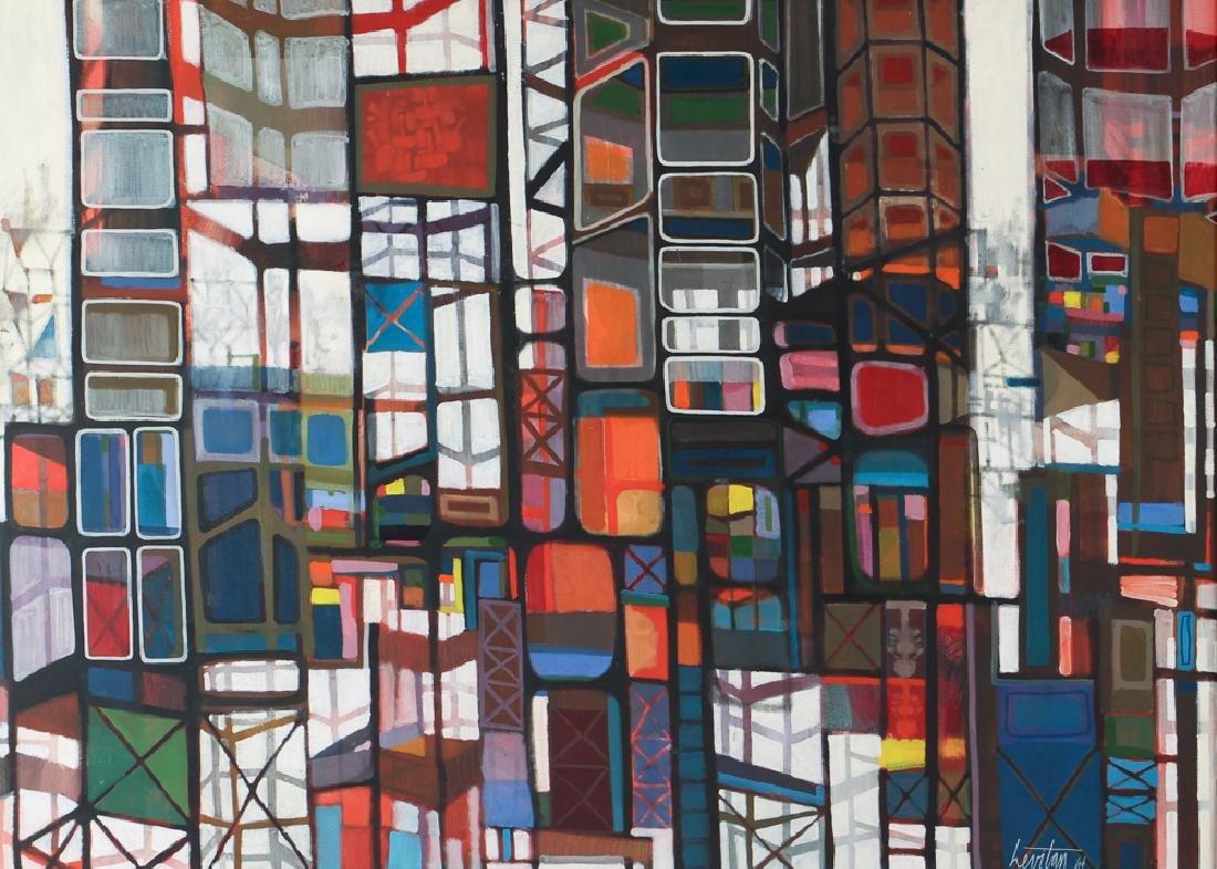 Israel Jack Levitan painting Untitled Abstract