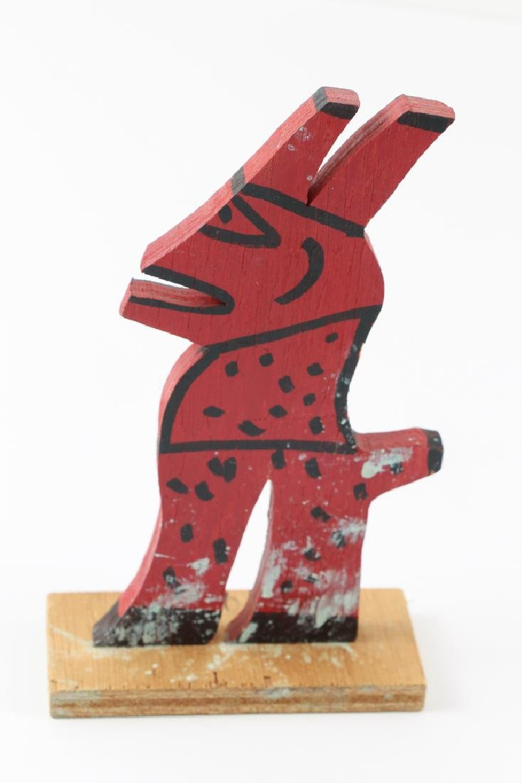 2 R. A. Miller painted wood creatures, Rooster and Red - 3