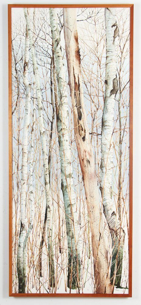 Charles Pitcher 4 panel watercolor polytch Momoyama - 2