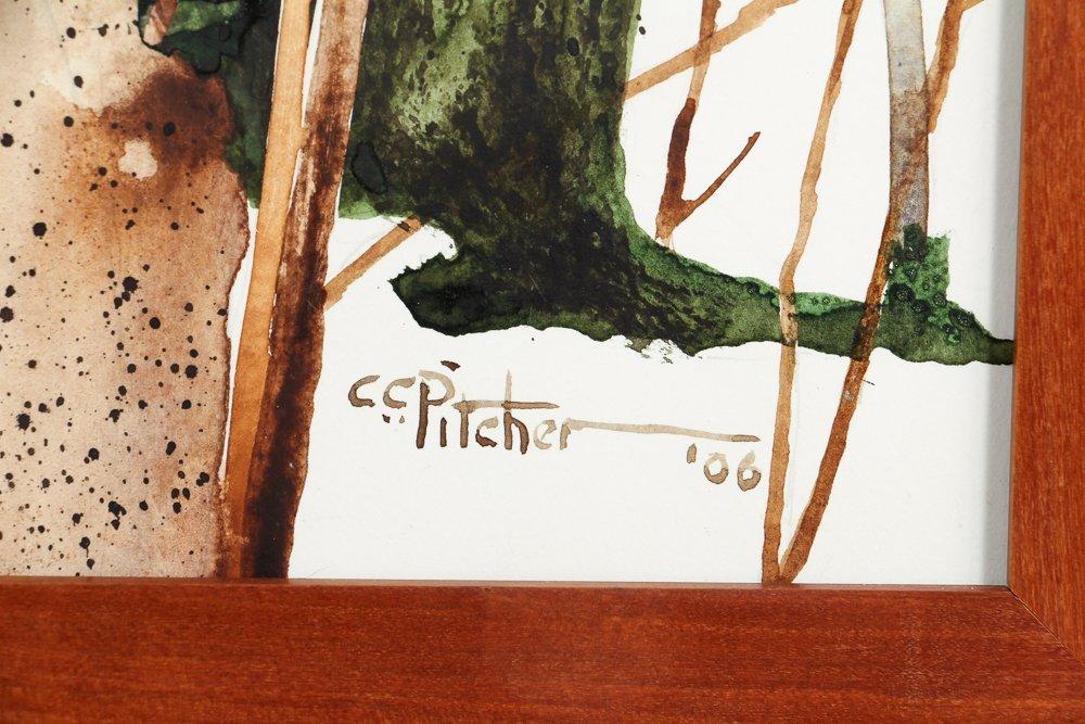 Charles Pitcher 4 panel watercolor polytch Momoyama - 4