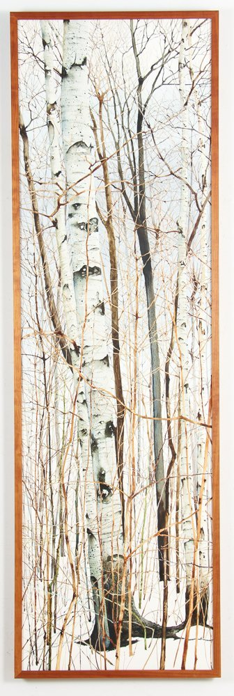 Charles Pitcher 4 panel watercolor polytch Momoyama - 8