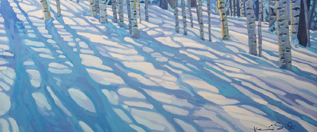 Kevin Short winter landscape painting Lighthearted