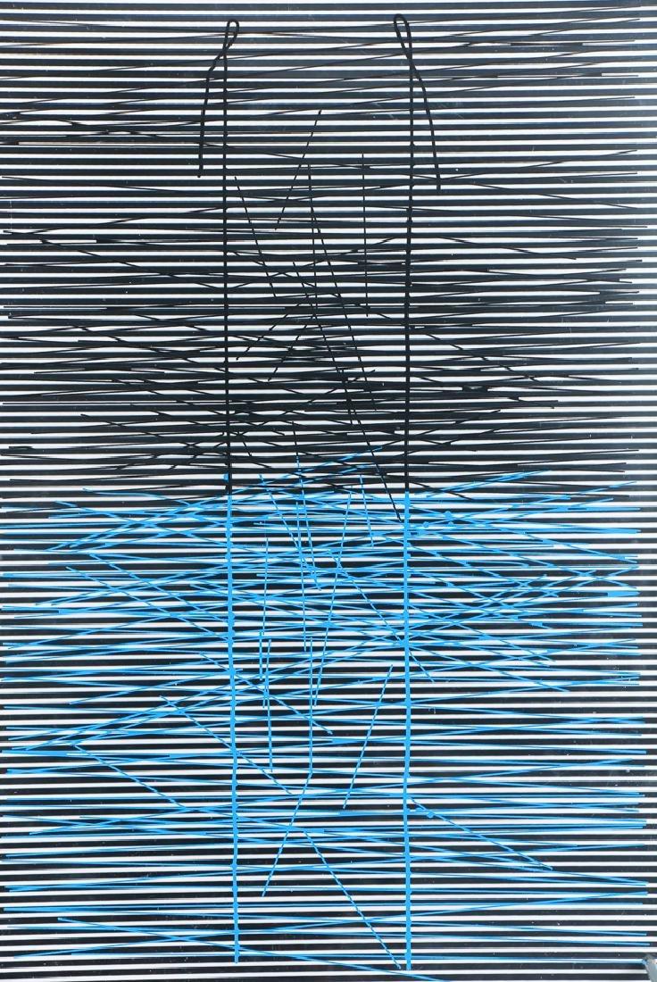 Jesus Rafael Soto Escalera Azul, 1979 screenprinted