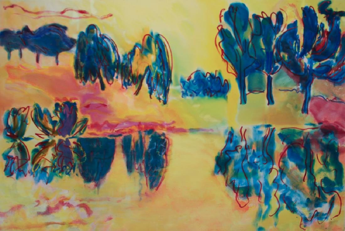 Derek Southall 1979 stain painting Edge of The Lake