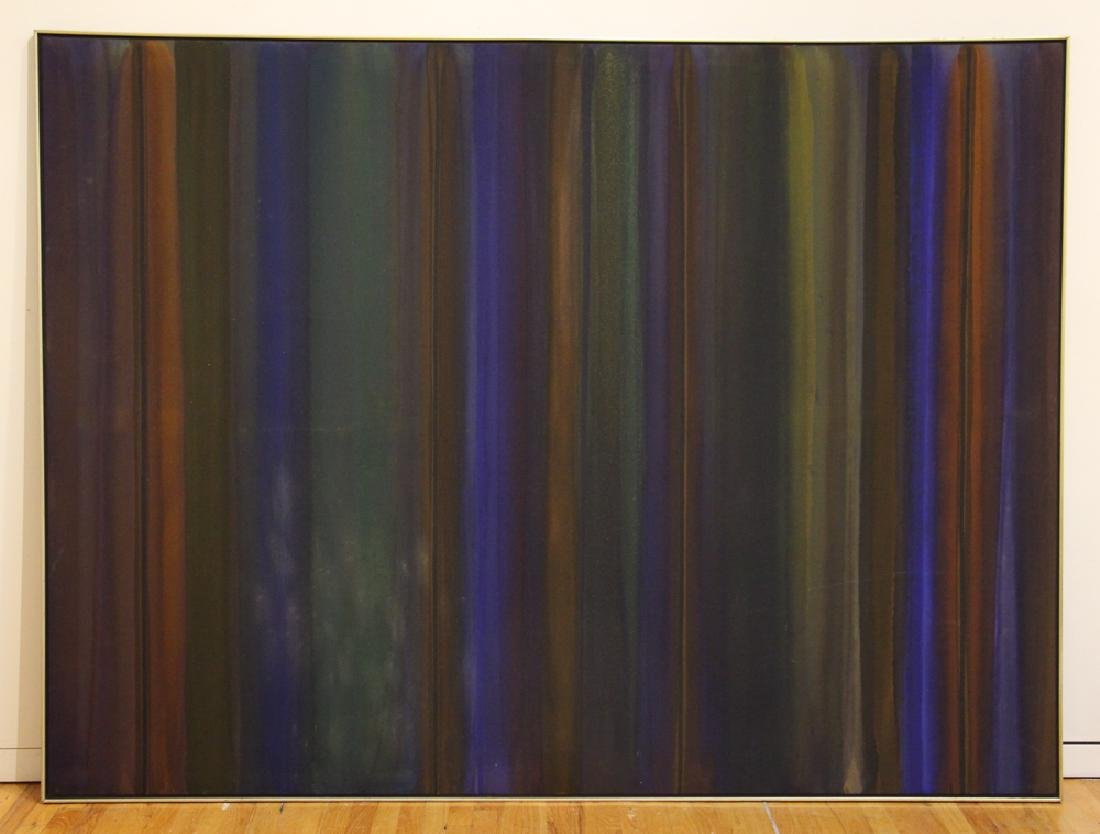 Russell Twiggs 1975 acrylic stain painting Procession - 2
