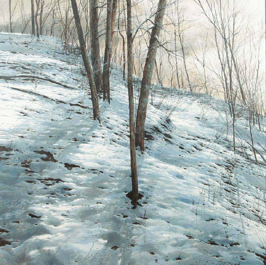 Michael Wheeler Winter Landscape Ridge Top Stormy Sky
