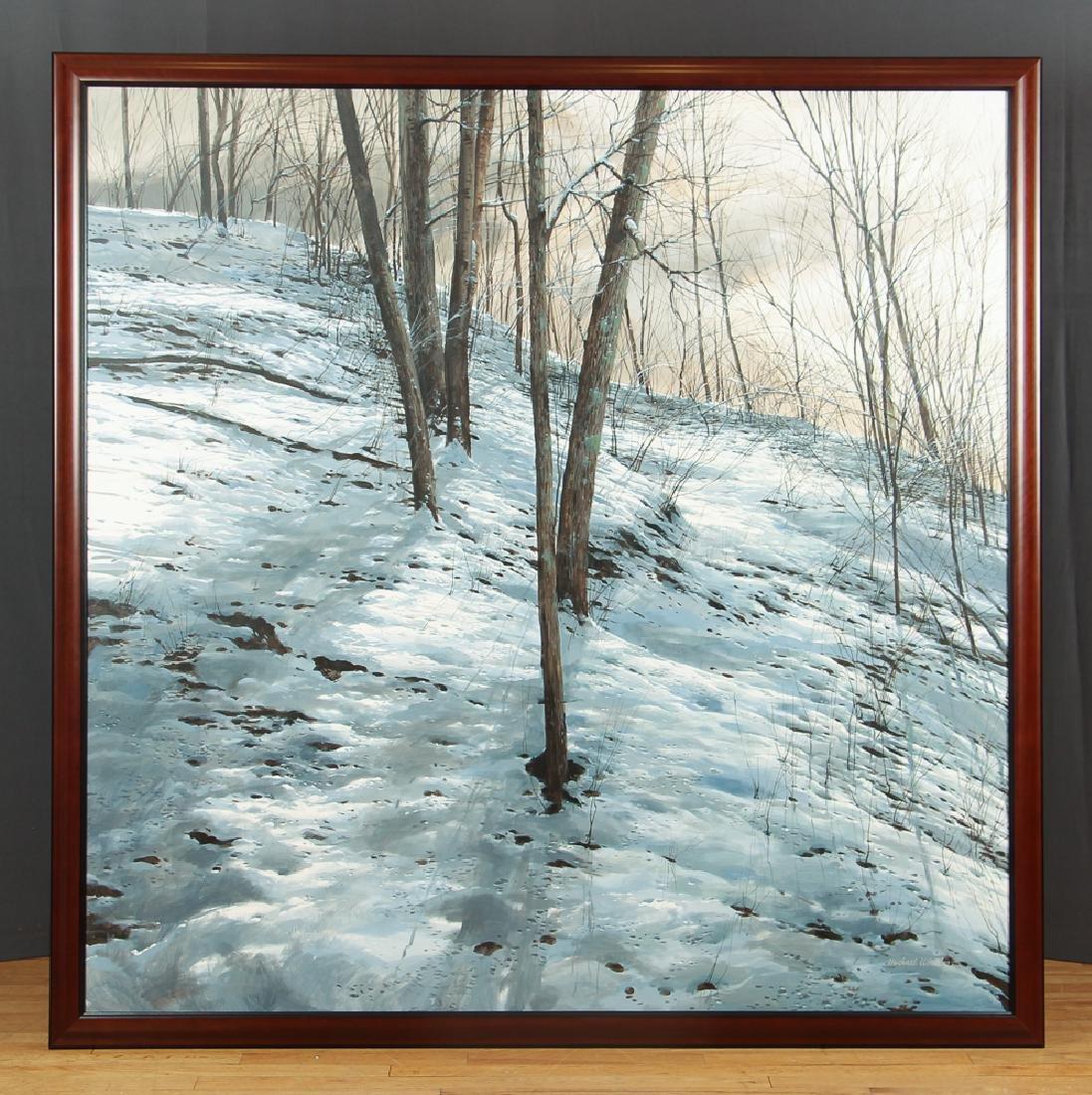 Michael Wheeler Winter Landscape Ridge Top Stormy Sky - 2