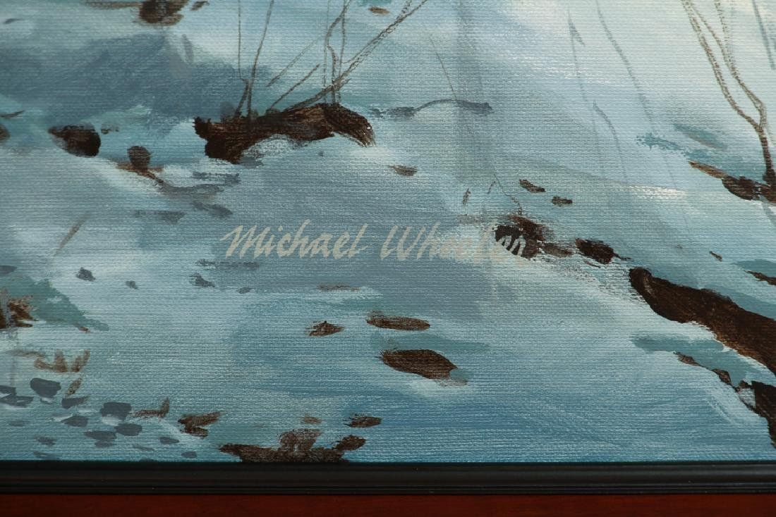 Michael Wheeler Winter Landscape Ridge Top Stormy Sky - 3