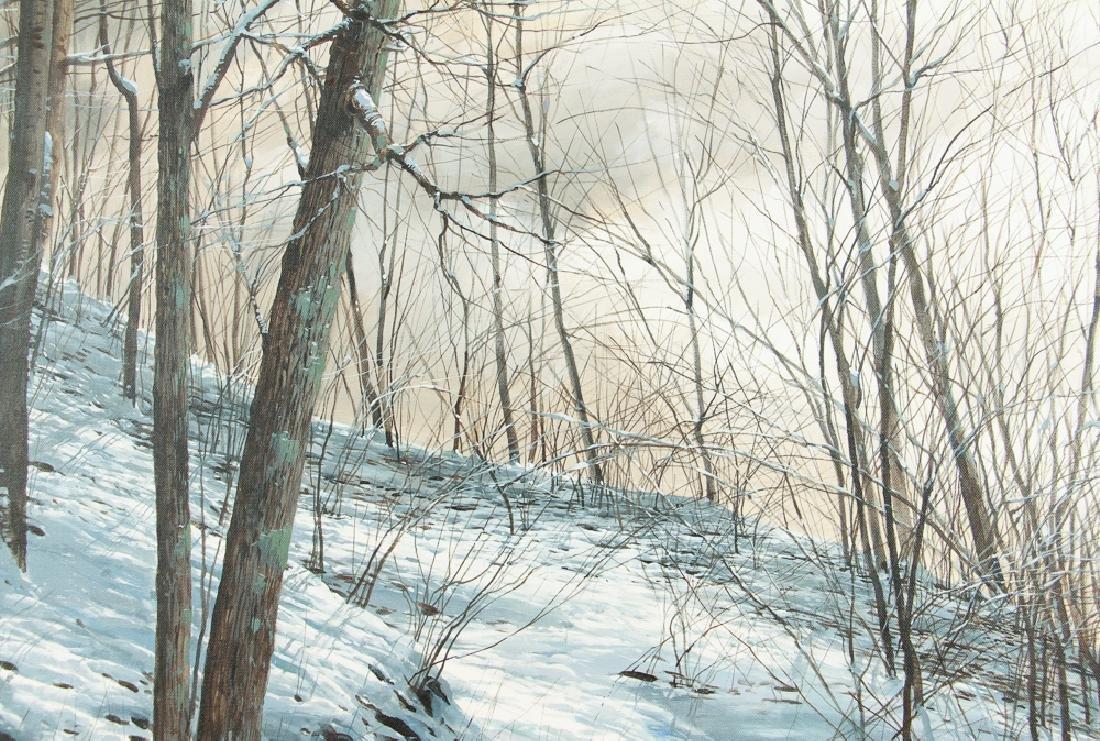 Michael Wheeler Winter Landscape Ridge Top Stormy Sky - 4