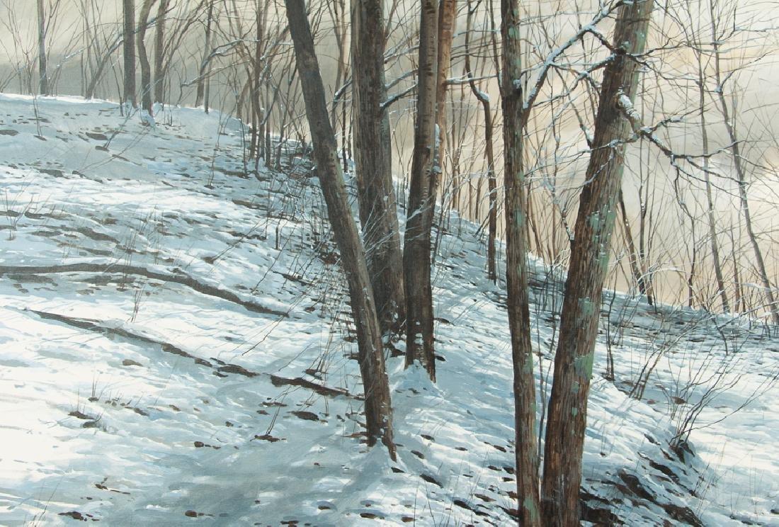 Michael Wheeler Winter Landscape Ridge Top Stormy Sky - 5