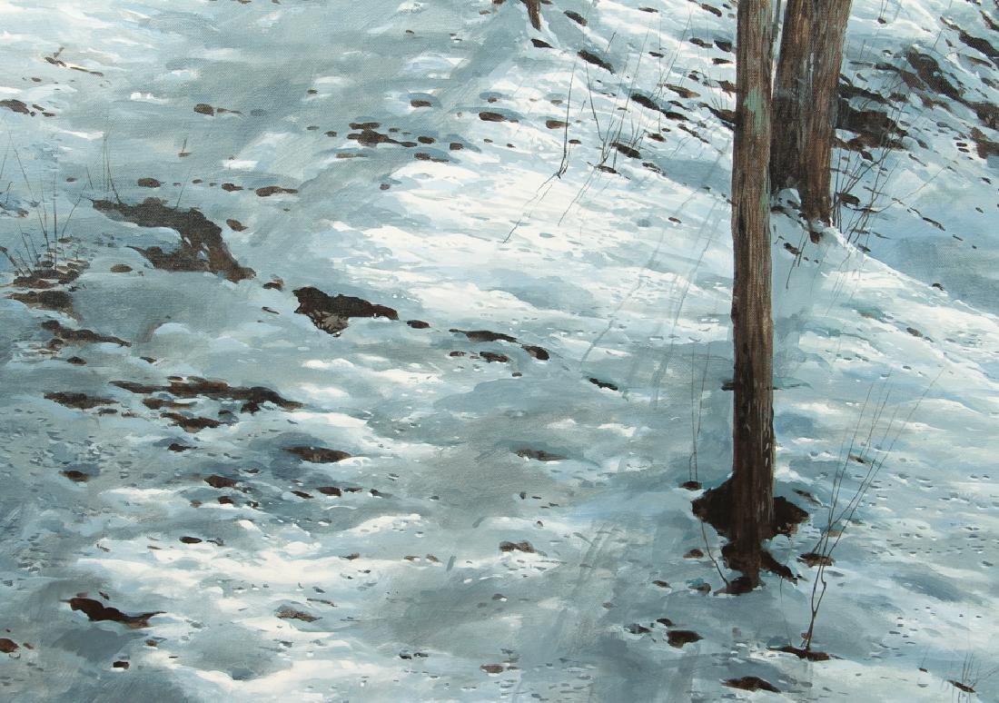 Michael Wheeler Winter Landscape Ridge Top Stormy Sky - 6