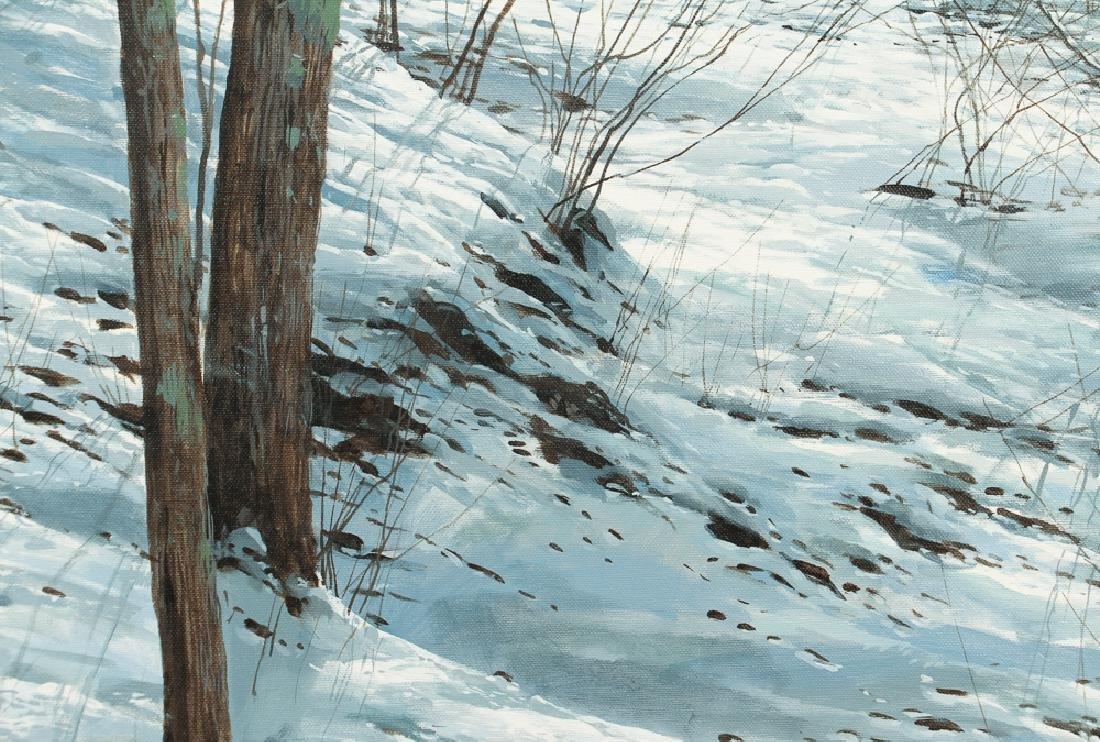 Michael Wheeler Winter Landscape Ridge Top Stormy Sky - 7